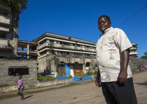 Chief In The Grande Hotel Slum, Beira, Mozambique