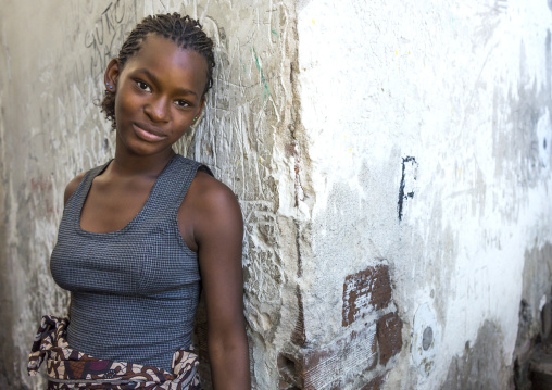 Young Woman Inside The Grande Hotel Slum, Beira, Mozambique