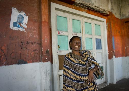 Woman Inside The Grande Hotel Slum, Beira, Sofala Province, Mozambique