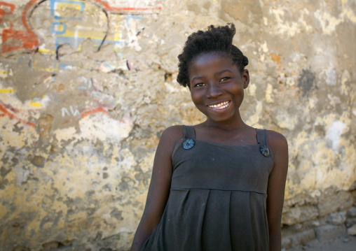 Smiling Young Woman, Island Of Mozambique, Mozambique