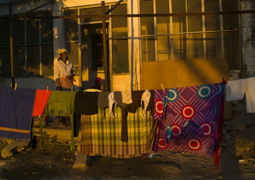 Woman Making Laundry, Ilha de Mocambique, Nampula Province, Mozambique