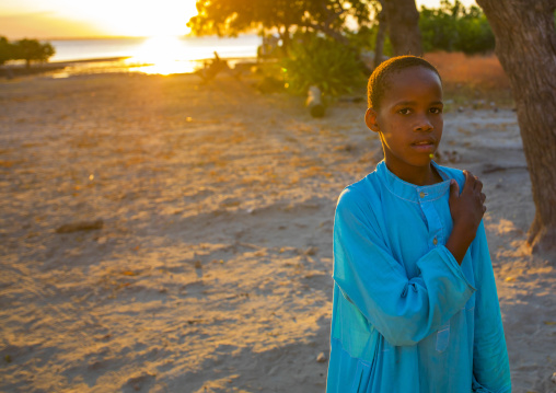 Kid In The Sunset, Ilha de Mocambique, Nampula Province, Mozambique