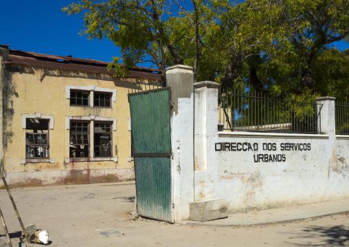 Urban Services Buolding, Island Of Mozambique, Mozambique