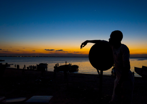 Man In The Sunset, Ilha de Mocambique, Nampula Province, Mozambique