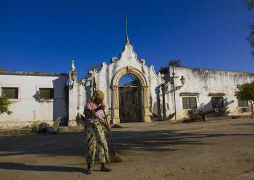 Old Naval Academy In Stone Town, Island Of Mozambique, Mozambique