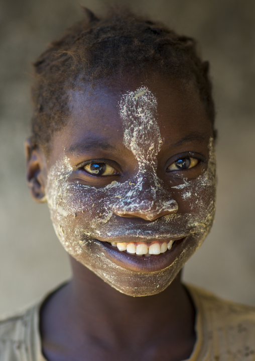 Teenager With Muciro Face Mask, Ibo Island, Mozambique