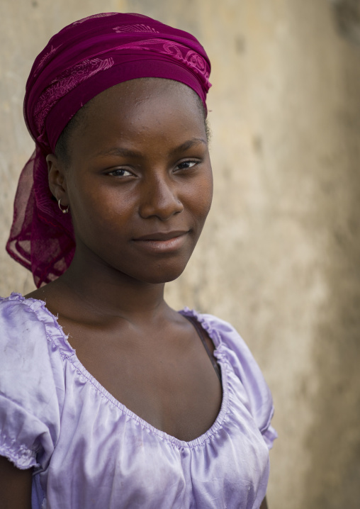 Beautiful Young Woman, Island Of Mozambique, Mozambique