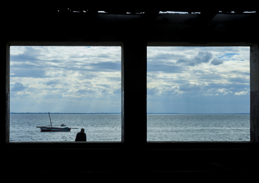 The Indian Ocean Seen Thru A Window, Island Of Mozambique, Mozambique