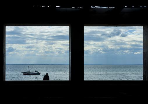 The Indian Ocean Seen Thru A Window, Ilha de Mocambique, Nampula Province, Mozambique