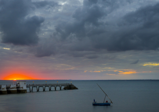 Sunset On The Harbour, Island Of Mozambique, Mozambique