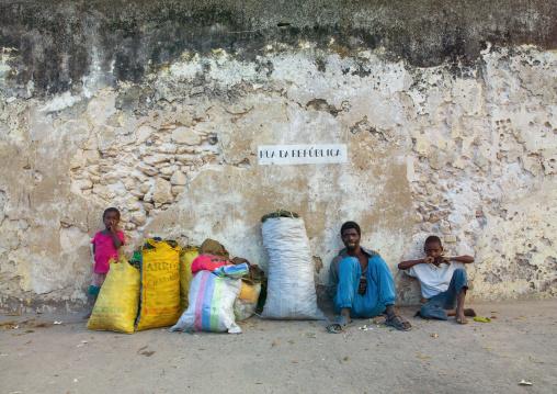 People Selling Coal, Ibo Island, Cabo Delgado Province, Mozambique