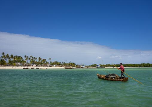 Man On A Boat, Quirimba Island, Cabo Delgado Province, Mozambique