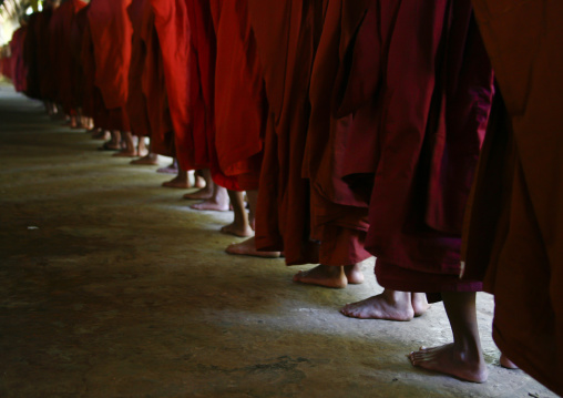 Novices Buddhist Monks, Rangoon, Myanmar