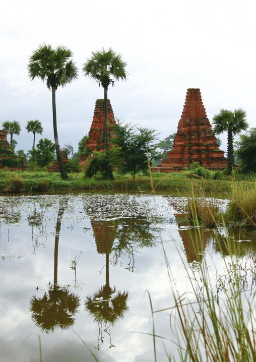 Pagodas In Innwa, Myanmar