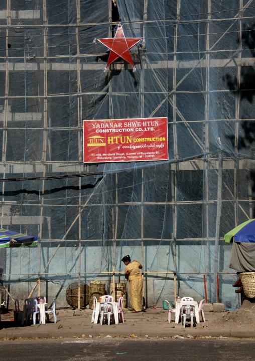 Building Construction In Rangoon, Myanmar