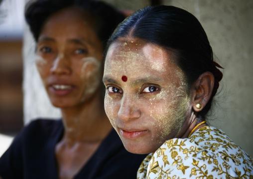 Women With Thanaka, Rangoon, Myanmar