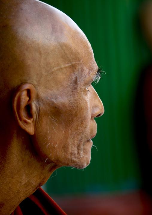 Buddhist Monk, Rangoon, Myanmar