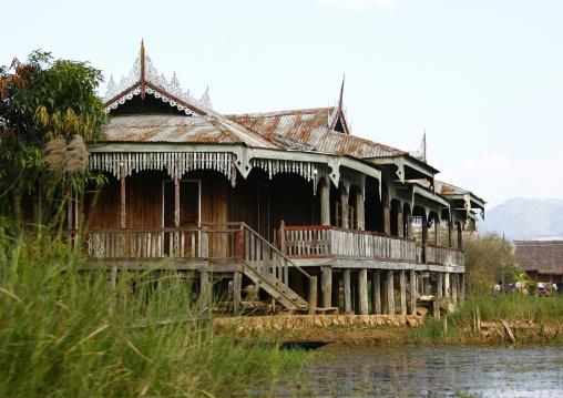 Monastery On Inle Lake, Myanmar