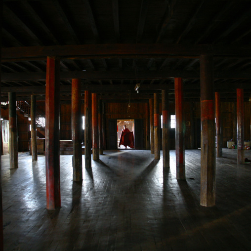 Monk Inside A Monastery, Inle Lake, Myanmar