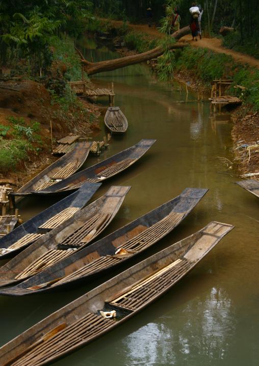 Boats In Taunggyi Market, Myanmar