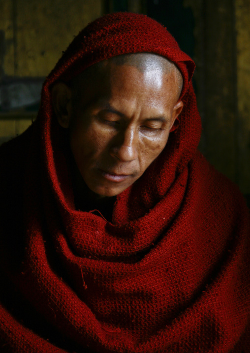 Buddhist Monk In Shwe Yan Pyay, Myanmar