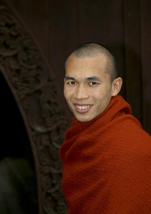 Smiling Buddhist Monk, Mandalay, Myanmar