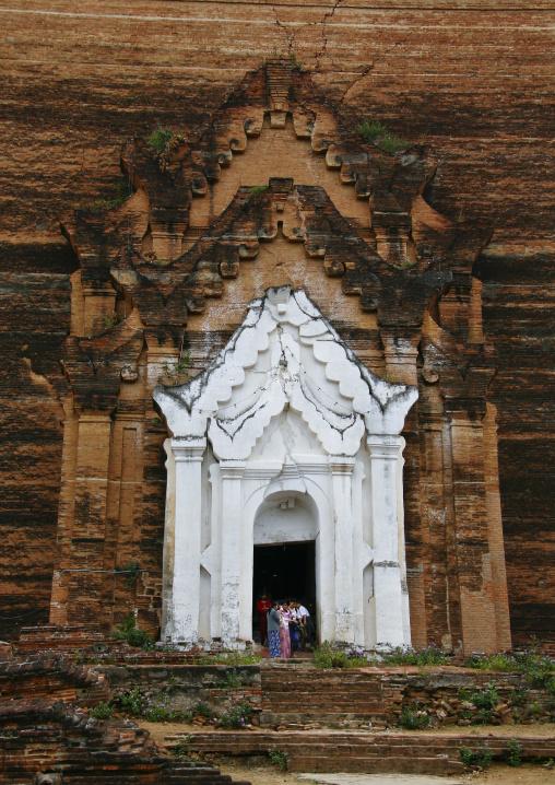 Mingun Paya Brick Pagoda Near Mandalay, Myanmar