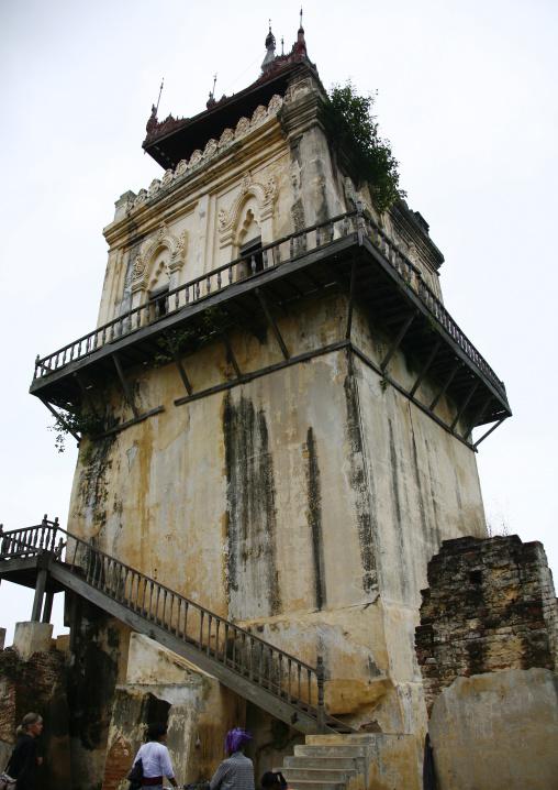 Nanmy Clock Tower In Innwa, Myanmar