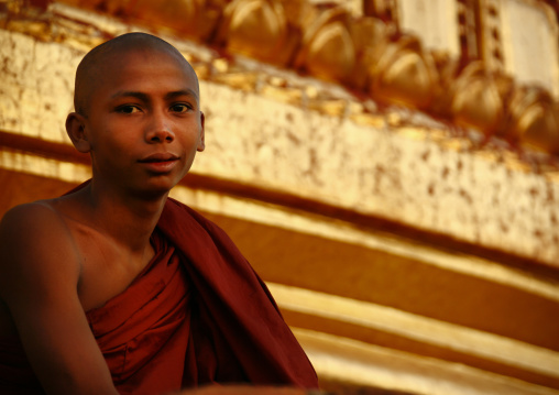 Novice Buddhist Monk,  Bagan, Myanmar