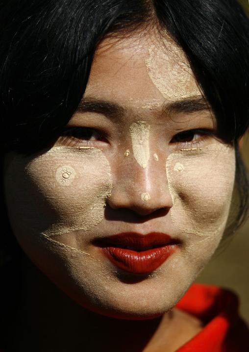 Teenager With Thanaka On Cheeks, Myanmar