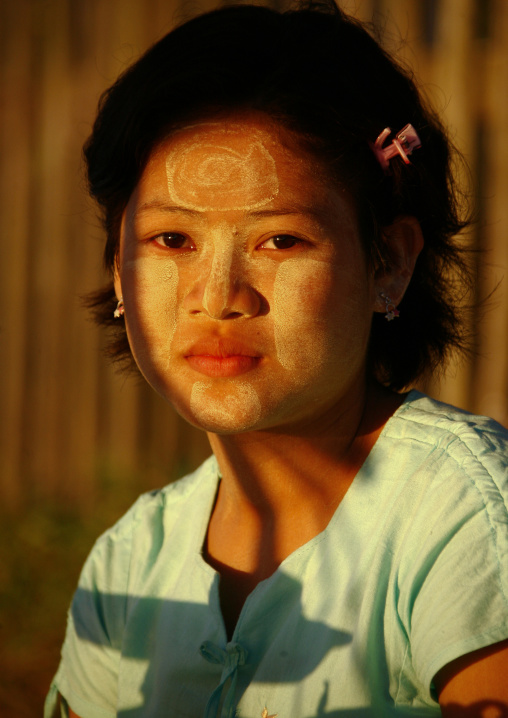 Ngapali Girl With Thanaka On Cheeks, Myanmar