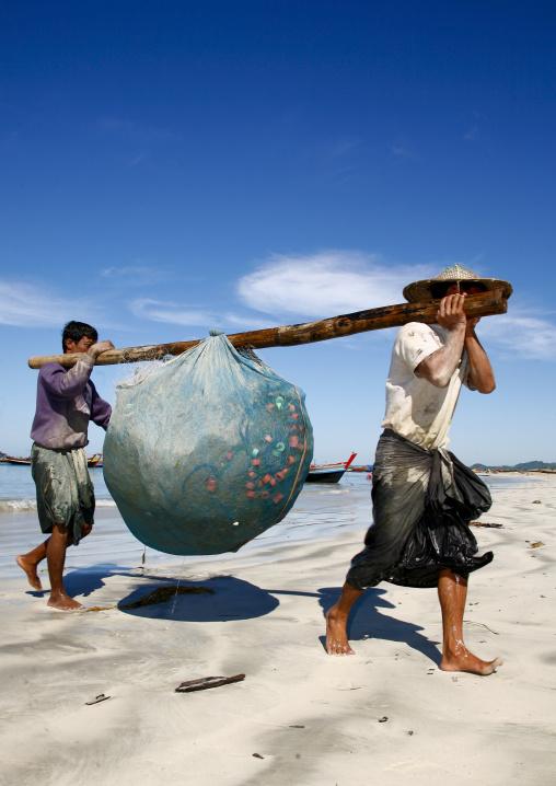 Ngapali fishermen , Myanmar