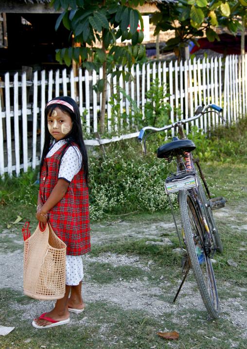 Little Girl With Her Bike, Ngapali, Myanmar