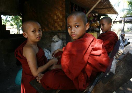 Novice Buddhist Monks, Rangoon, Myanmar