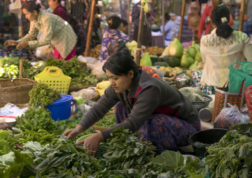 People in the central market, Bagan, Myanmar