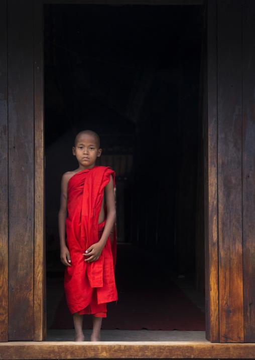 Novice Monk In Nat Taung Kyaung Monastery, Bagan, Myanmar