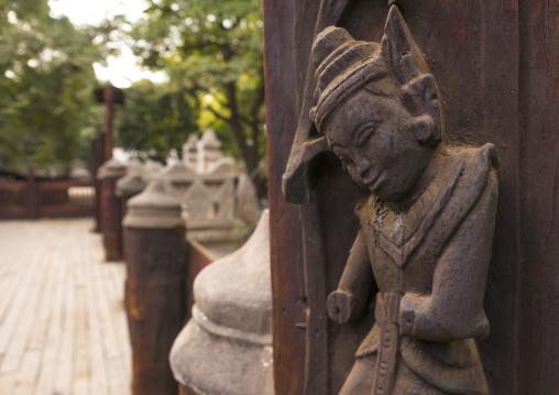 Statues In Nat Taung Kyaung Monastery, Bagan, Myanmar