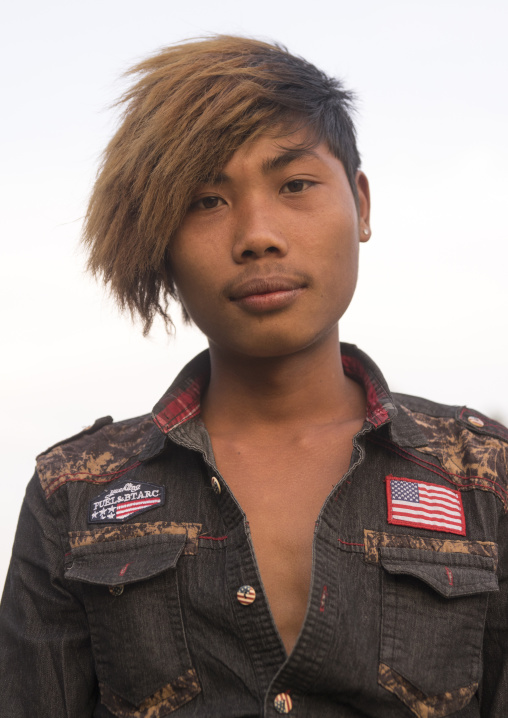 Young Man With A Stylish Haircut, Mindat, Myanmar