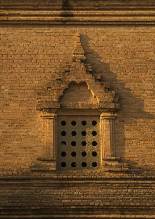 Old temple window, Bagan, Myanmar