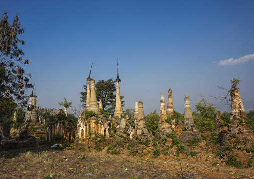 Shwe inn thein paya temple, Inle lake, Myanmar