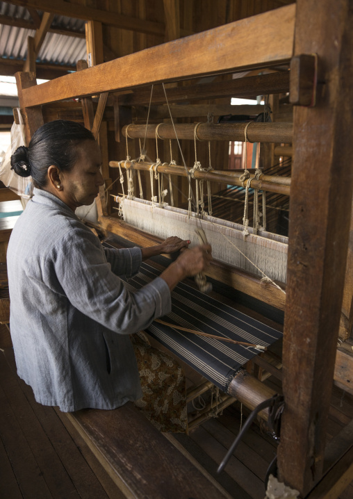 Silk Weaving Workshop, Inle Lake, Myanmar