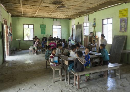 Children At School, Mrauk U, Myanmar