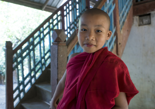 Young novice, Mrauk u, Myanmar