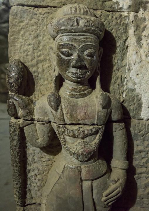 Statue Inside Htuk Kant Thein Temple, Mrauk U, Myanmar