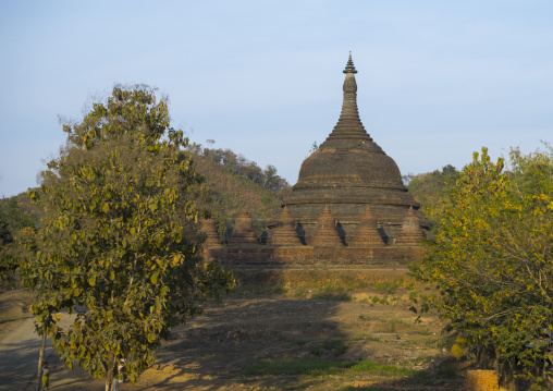 Kothaung Pagoda, Mrauk U, Myanmar