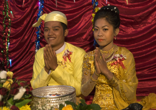 Wedding ceremony in chin family, Mrauk u, Myanmar