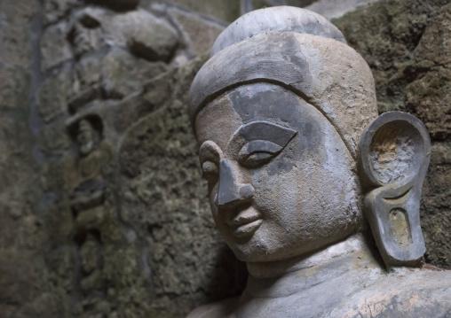 Buddha Head In Kothaung Temple, Mrauk U, Myanmar