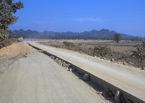New Road In The Country, Mrauk U, Myanmar
