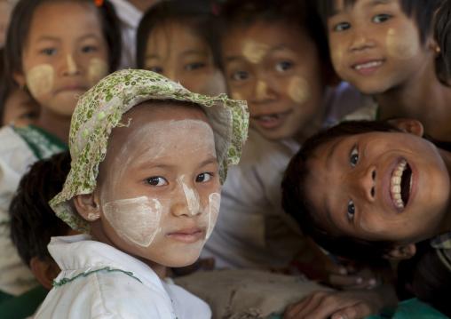 Children Having Fun At School, Mrauk U, Myanmar