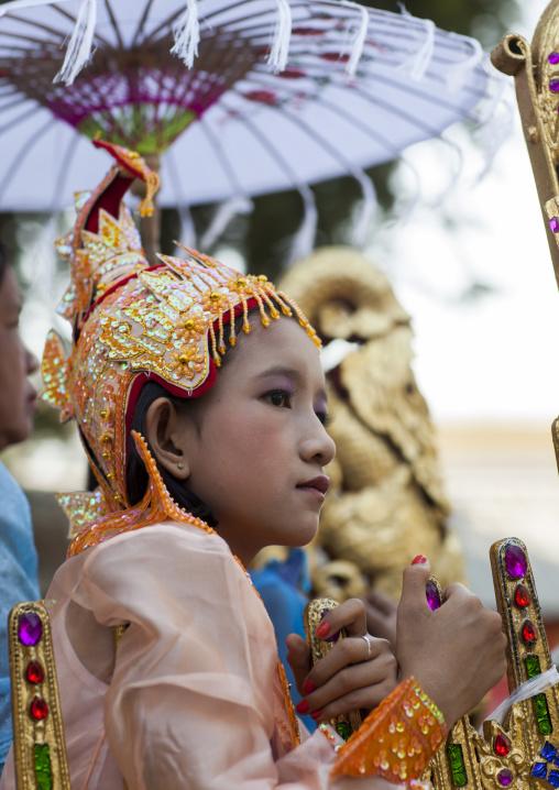 Child During A Novitiation Parade, Bagan,  Myanmar
